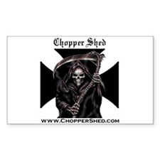 Chopper Shed Rectangle Decal