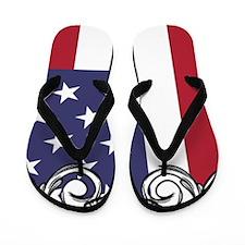 Lacrosse_Skull_US Flip Flops