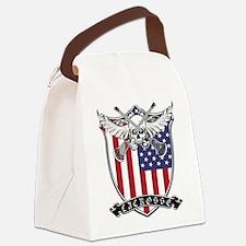 Lacrosse_Skull_US Canvas Lunch Bag