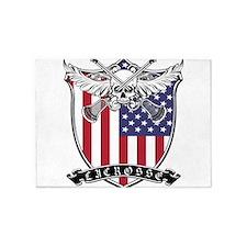 Lacrosse_Skull_US 5'x7'Area Rug