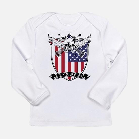 Lacrosse_Skull_US Long Sleeve T-Shirt