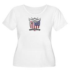 Lacrosse_Skull_US Plus Size T-Shirt
