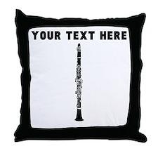 Custom Clarinet Throw Pillow