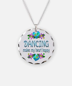 Dancing Heart Happy Necklace