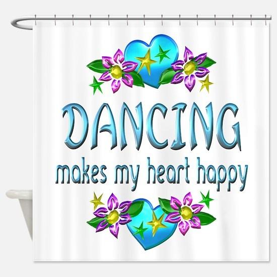 Dancing Heart Happy Shower Curtain