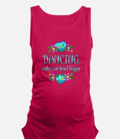 Dancing Heart Happy Maternity Tank Top