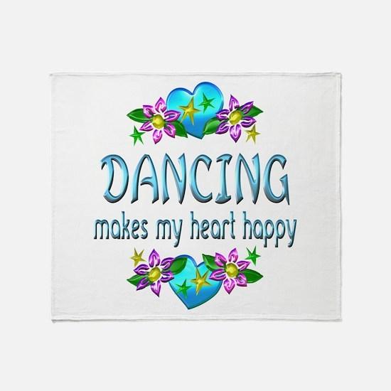 Dancing Heart Happy Throw Blanket