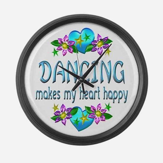 Dancing Heart Happy Large Wall Clock