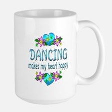 Dancing Heart Happy Large Mug