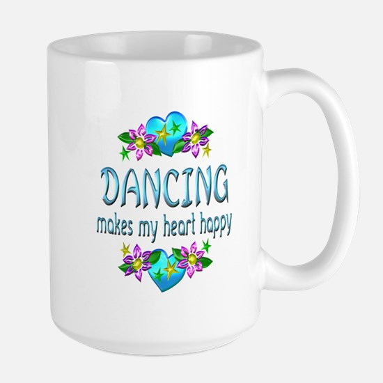Dancing Heart Happy Large Mug
