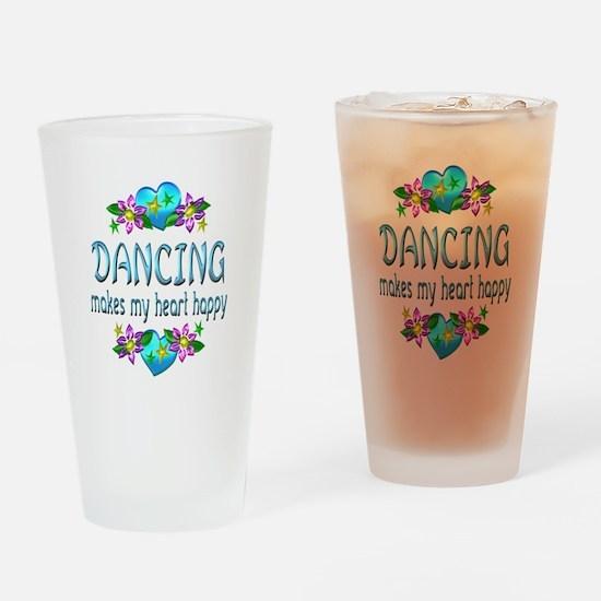 Dancing Heart Happy Drinking Glass