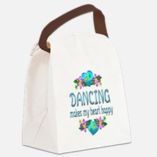 Dancing Heart Happy Canvas Lunch Bag