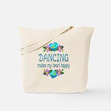 Dancing Heart Happy Tote Bag