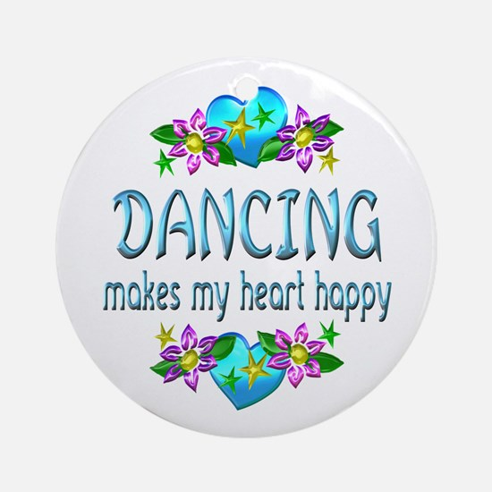 Dancing Heart Happy Ornament (Round)