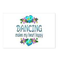 Dancing Heart Happy Postcards (Package of 8)