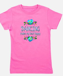 Dancing Heart Happy Girl's Tee