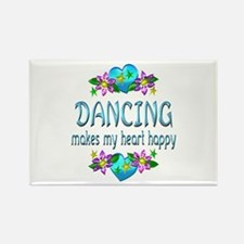 Dancing Heart Happy Rectangle Magnet