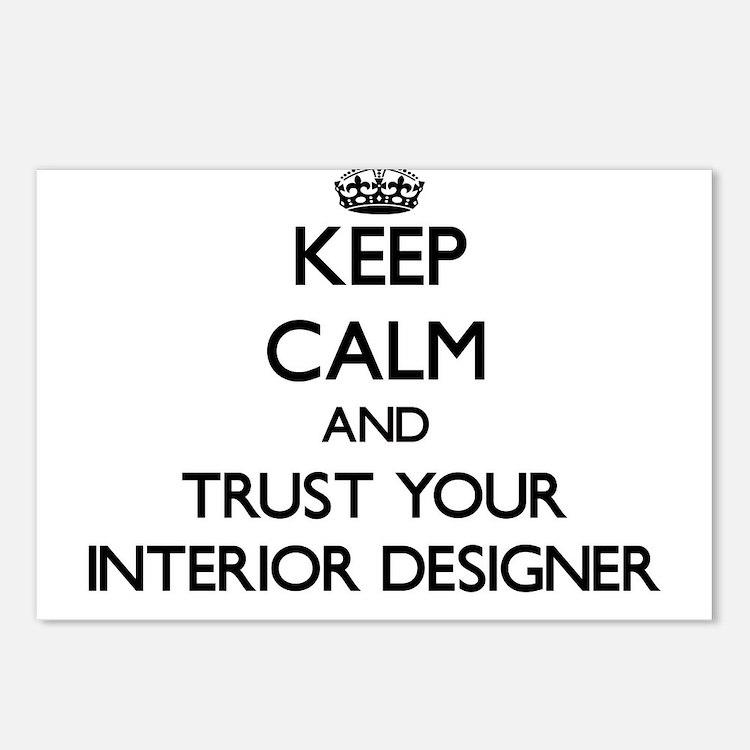Keep Calm and Trust Your Interior Designer Postcar
