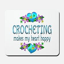 Crocheting Heart Happy Mousepad