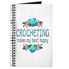 Crocheting Heart Happy Journal
