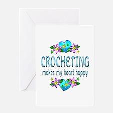 Crocheting Heart Happy Greeting Card