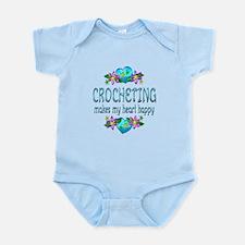 Crocheting Heart Happy Infant Bodysuit