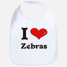 I love zebras  Bib