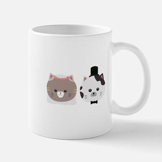 Cat Wedding Couple Cn557 Mugs