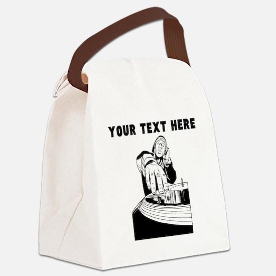 Custom DJ Canvas Lunch Bag