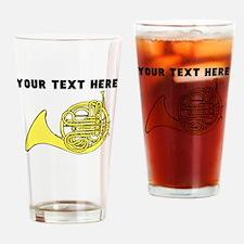 Custom French Horn Drinking Glass