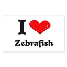 I love zebrafish Rectangle Decal