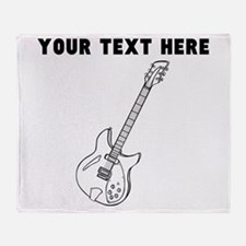 Custom Electric Guitar Throw Blanket