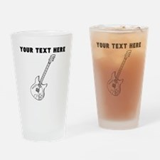 Custom Electric Guitar Drinking Glass
