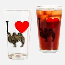 I Heart Camels I Love Camels Drinking Glass