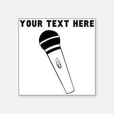 Custom Microphone Sticker