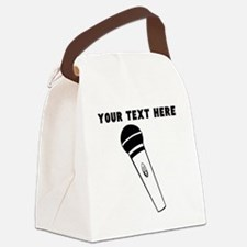 Custom Microphone Canvas Lunch Bag