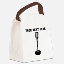 Custom Radio Microphone Canvas Lunch Bag