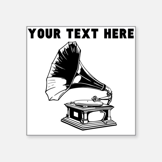 Custom Gramophone Record Player Sticker
