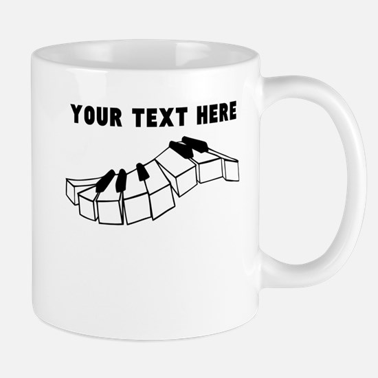 Custom Piano Keys Mugs
