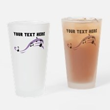 Custom Music Notes Drinking Glass