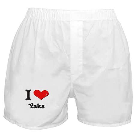 I love yaks Boxer Shorts