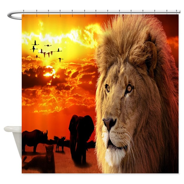 Lion King Shower Curtain By CoolBedding