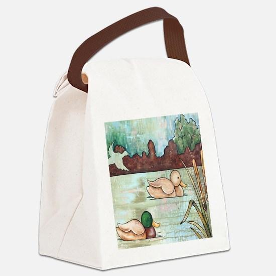 Mallard Duck Decoy Canvas Lunch Bag