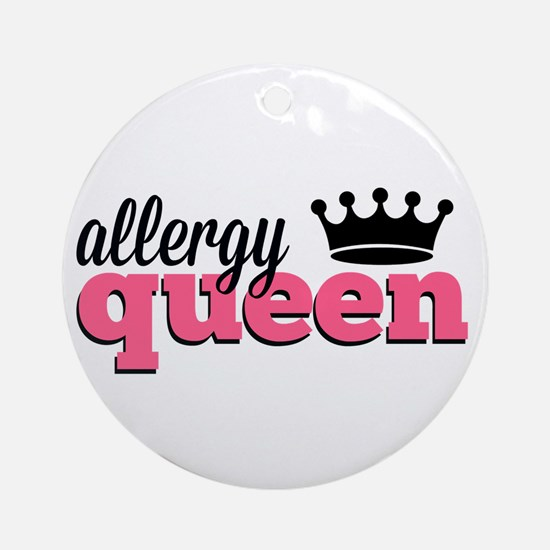 Allergy Queen Ornament (Round)