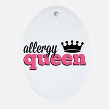 Allergy Queen Ornament (Oval)