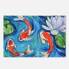 Koi Fish Pond Postcards (Package of 8)