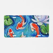 Koi Fish Pond Aluminum License Plate