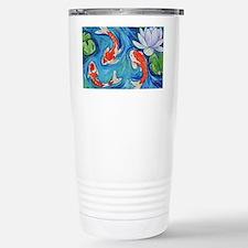 Koi Fish Pond Stainless Steel Travel Mug