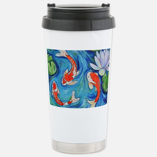 Koi Fish Pond Stainless Steel Travel Mug