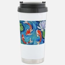 Koi Fish Pond Travel Mug